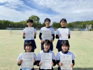 ソフトテニス部 奈良市総合体育大会 受賞