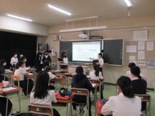 中学3年生コミュニティプロジェクト中間発表